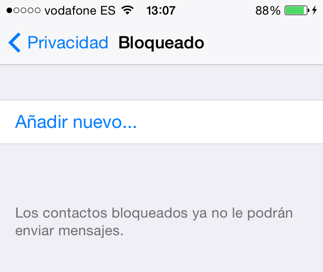 WhatsApp Bloquear Contactos iPhone