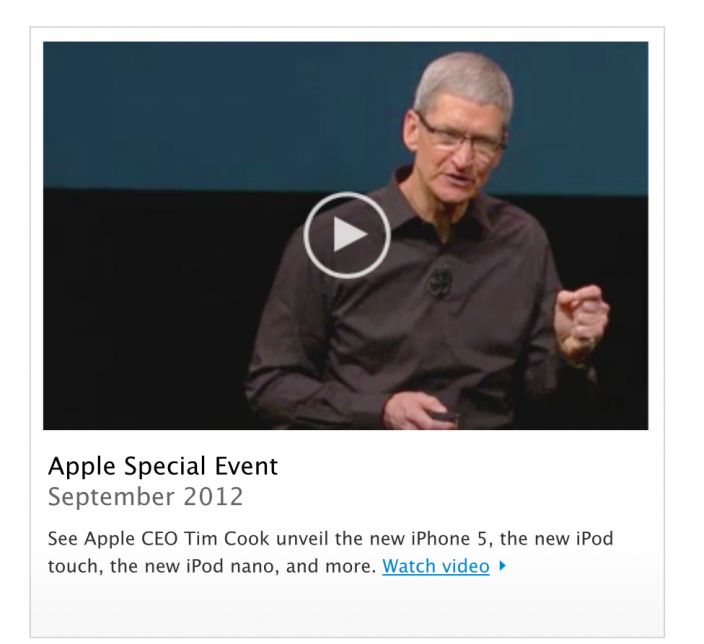 Apple Keynote iPhone 5 Video