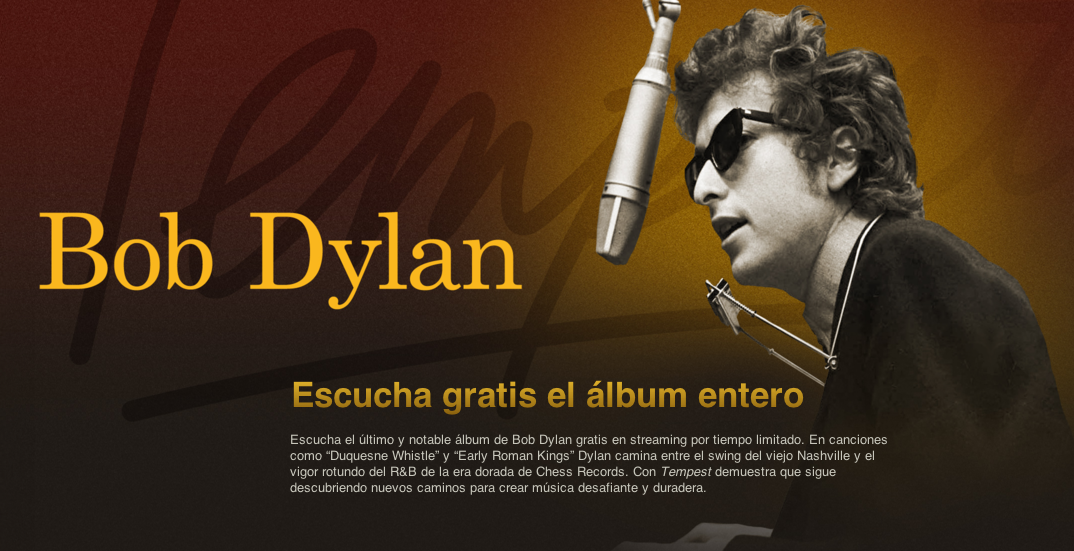 Bob Dylan - Tempest - iTunes Streaming