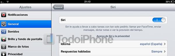 Como activar Siri en el iPad 3