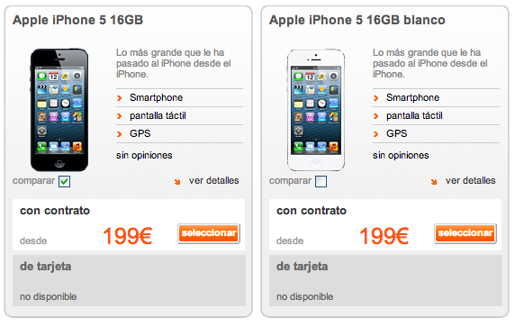 Orange iPhone 5 Disponibilidad
