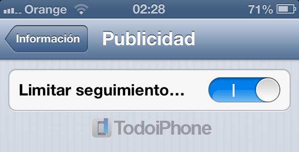 iOS 6 Limitar Seguimiento