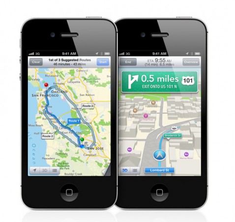 iOS 6 - turn by turn Mapas