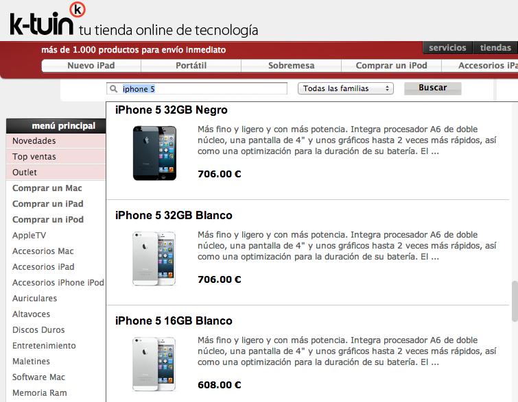 iPhone 5 K-Tuin precios - 2