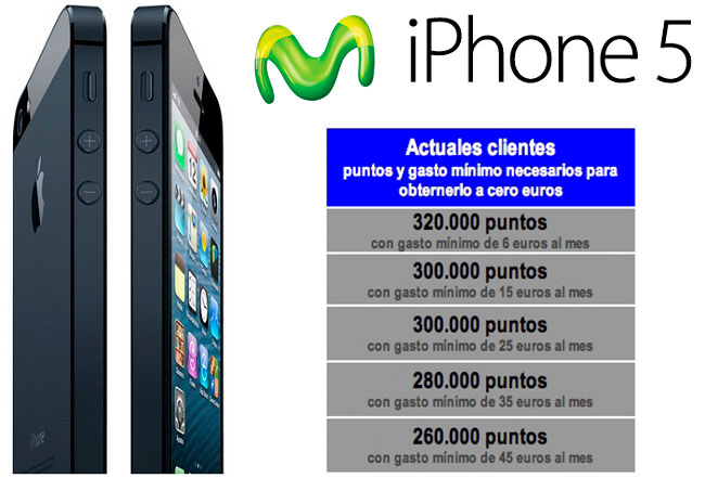 iPhone 5 Precio Movistar