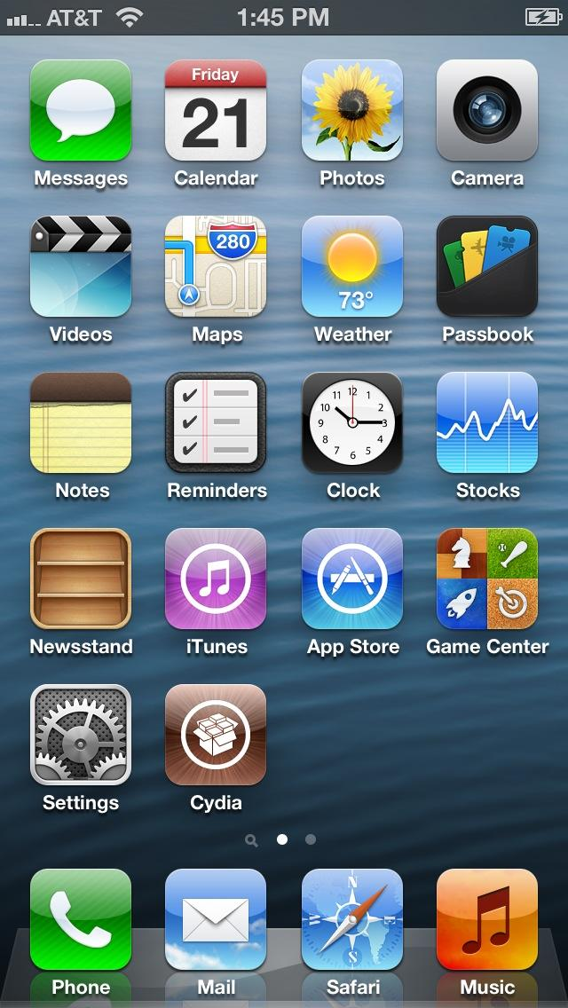 iPhone 5 jailbroken