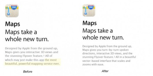 Mapas Apple cambia el lema