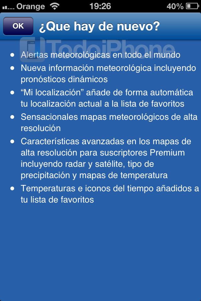 WeatherPRO - TodoiPhone 1