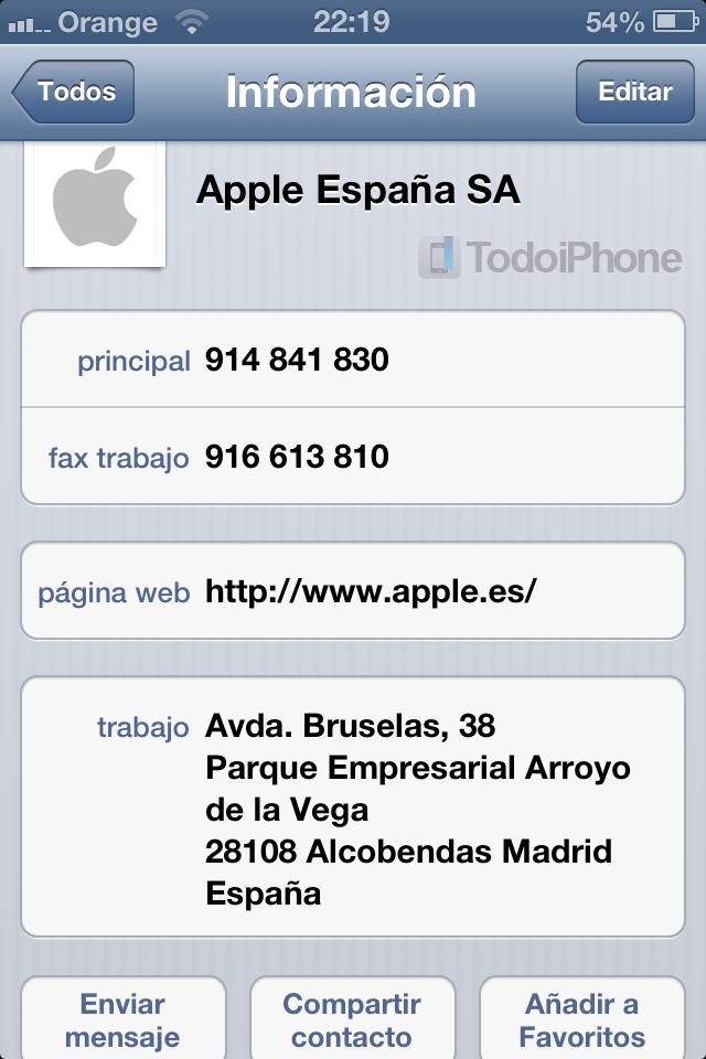 iMessage compartir contacto