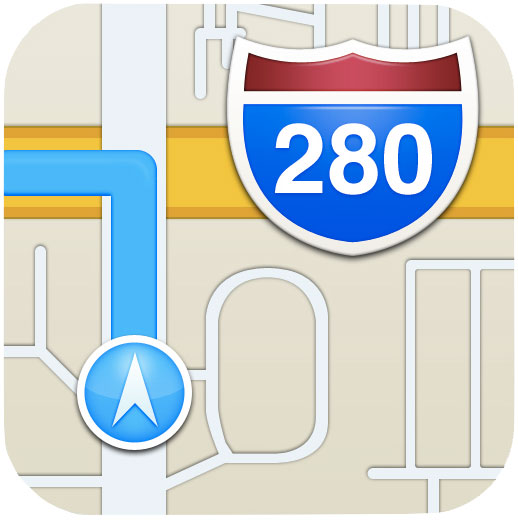 iOS6 Apple Maps icon