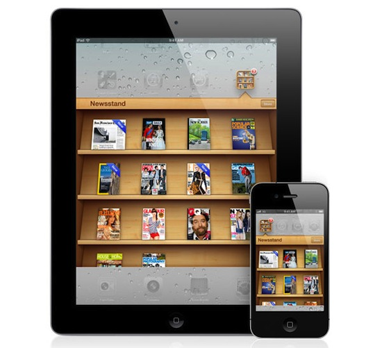 iPad and iPhone newsstand ios5