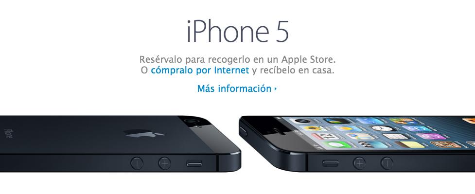 Reserva o compra online el iPhone 5