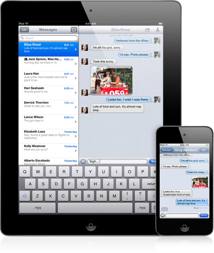 iMessage iPad-iPhone