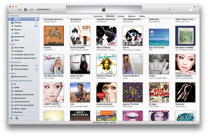 iTunes 11 Old Style