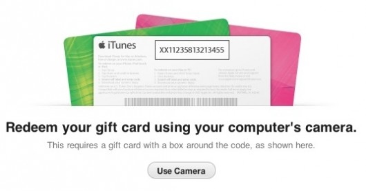 redeem gift card iTunes 11