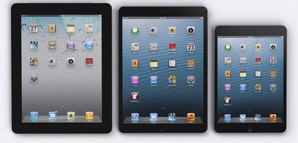 iPad 4, iPad mini y iPad 5