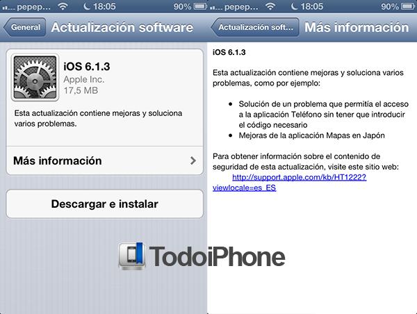 iOS 6.1.3 - TiP