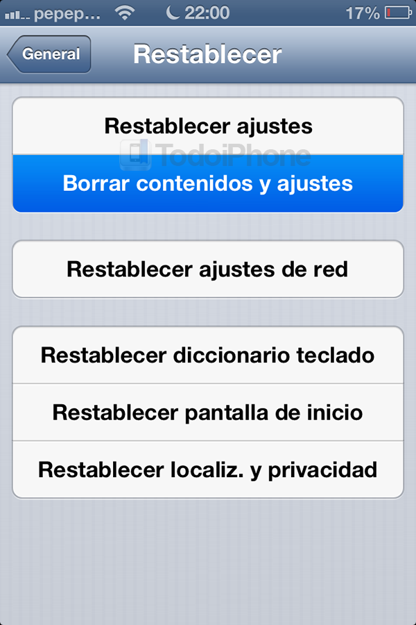 Como preparar dispositivo iOS para regalar o vender copia