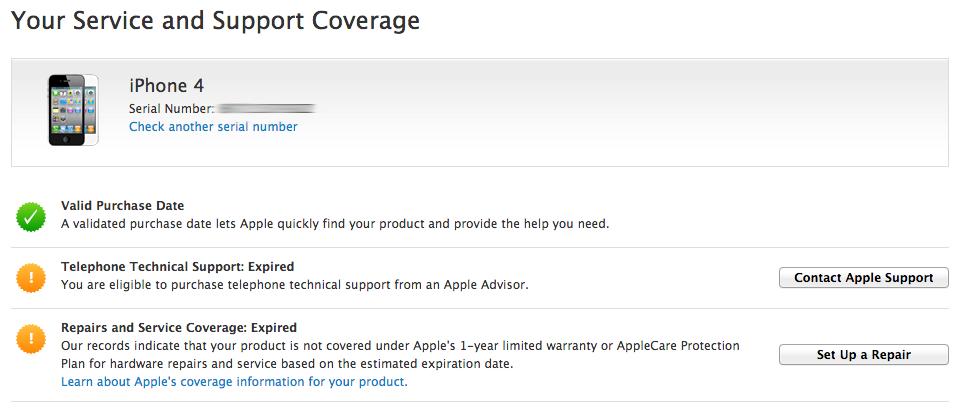 Comprobar Garantia iPhone Online