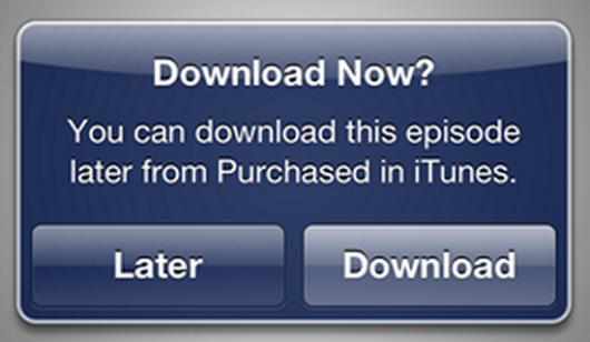 iTunes Download Later