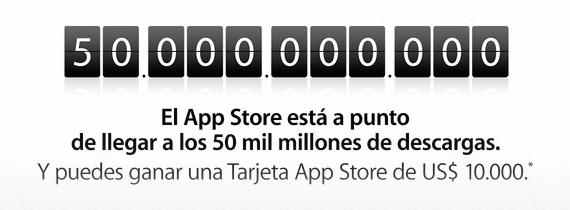 App Store Cincuenta Mil Millones de Descargas