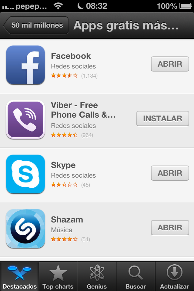 Apps gratis más descargadas - TiP