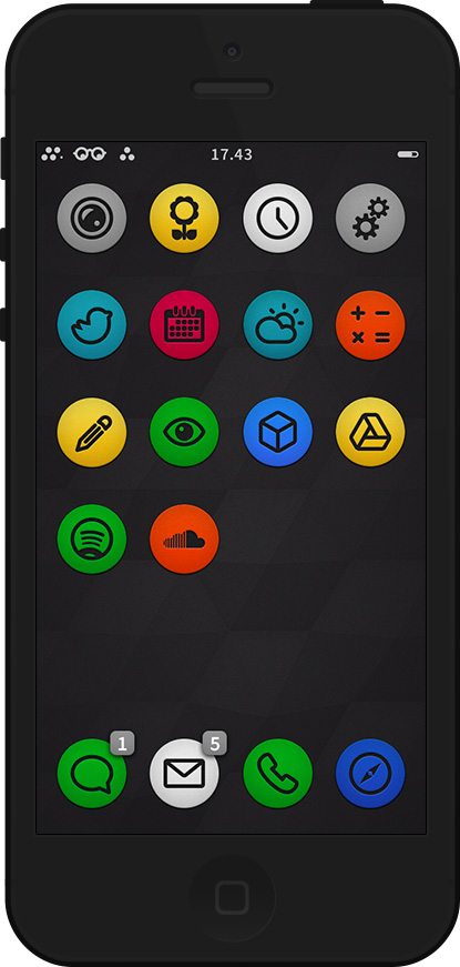 Circul8 a Minimalist Theme for iPhone and iPad 1
