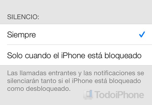 No molestar iOS 7 Siempre