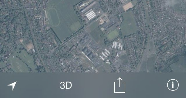 iOS 7 Mapas modo Nocturno