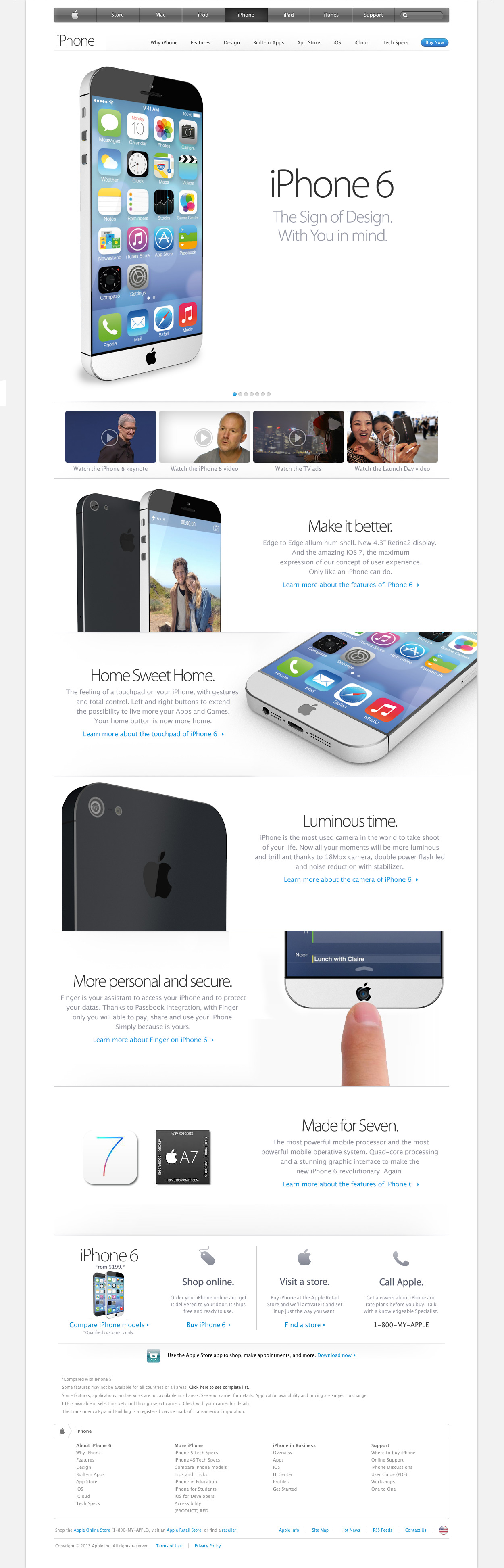 iPhone 6 Concept With iOS 7 - Slide
