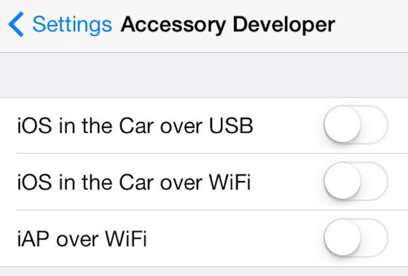 iOS In-Car