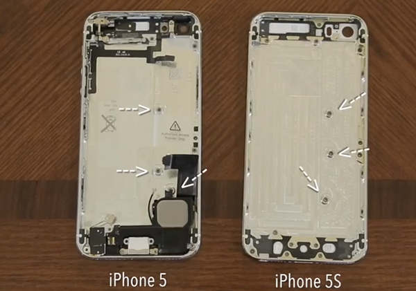Introducir Hardware iPhone 5 en Carcasa iPhone 5S - 2