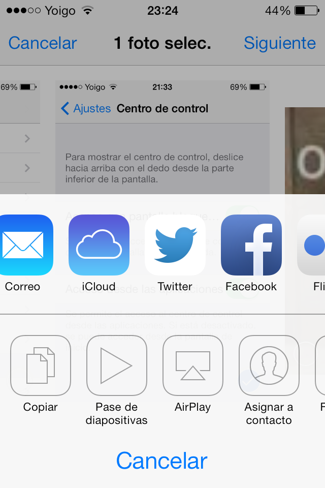 iOS 7 Beta 5 Icono Twitter