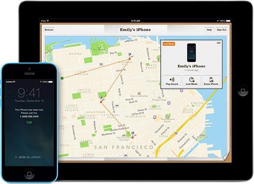 Find my iPhone iOS 7 iPhone iPad