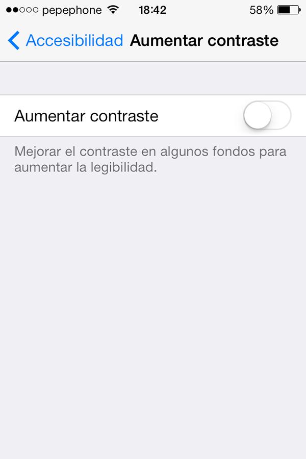 iOS 7 - Aumentar Contraste