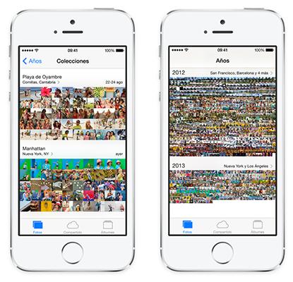 iOS 7 Fotos App Organizacion