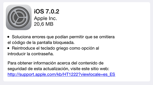 iOS 7.0.2 - iPhone iPod iPad