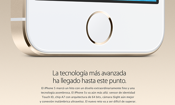 iPhone 5S Oficial - Lector de Huellas