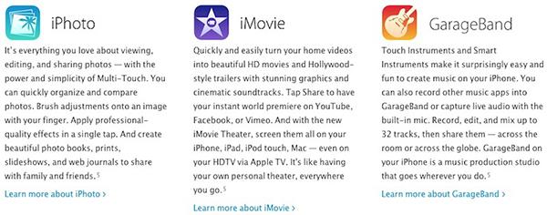 Iconos iLife iOS 7