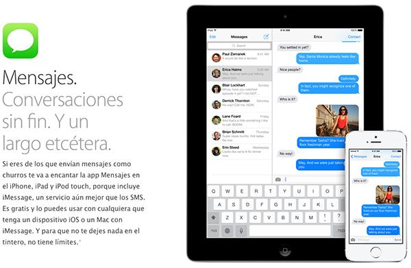 Mensajes iOS 7