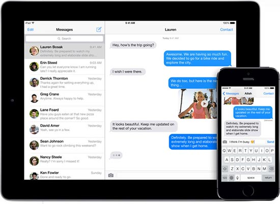iMessage iOS 7 iPhone iPad