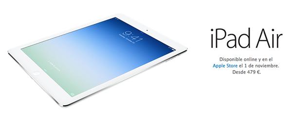 iPad Air - Disponibilidad y Precios