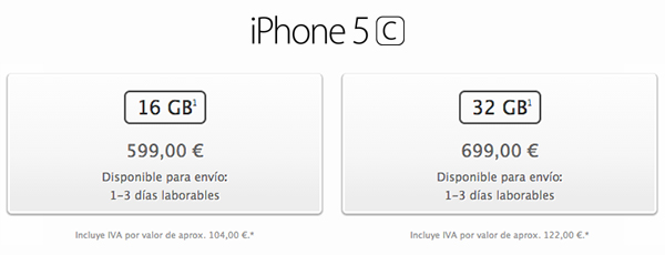 iPhone 5c - Capacidades