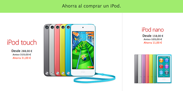 Black Friday Apple 29 Nov Descuentos - iPod
