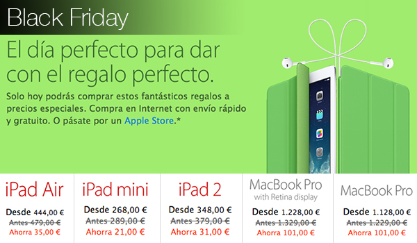 Black Friday Apple 29 Nov Descuentos