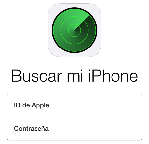 Buscar mi iPhone - Inicio