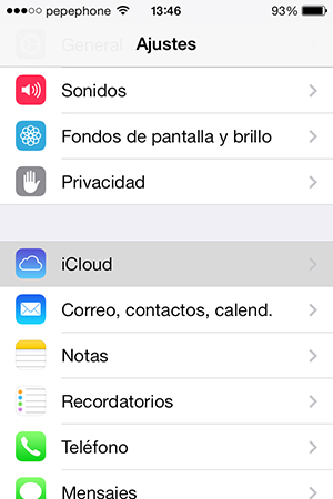 Configurar Documentos en la Nube iPhone