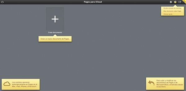Ducoumentos en la Nube Online iCloud