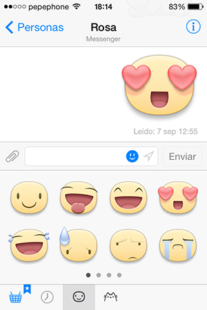 Facebook Messenger - Stickers