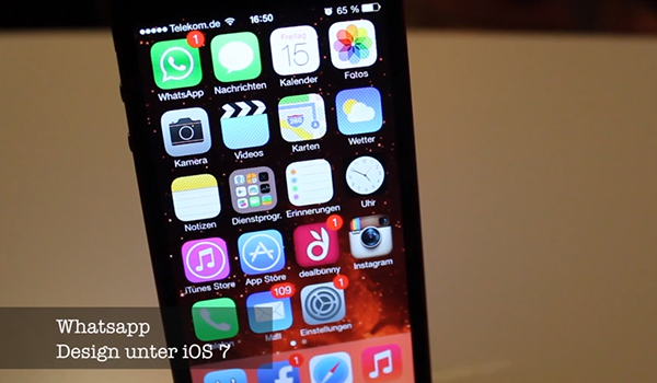WhatsApp iOS 7 Video